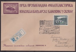 Yugoslavia, Philatelic Exhibition Skopje, 1940, Comemmorative Cover, Sent Registered - Storia Postale