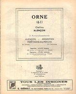 ANNUAIRE - 61 - Département Orne - Année 1957 - édition Didot-Bottin - 84 Pages - Telephone Directories