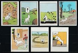Petit Lot De 7 Vignettes Tintin Et Milou. - Autocollants