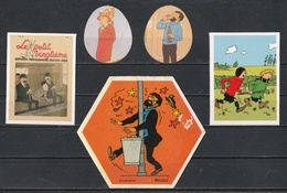 Petit Lot De 5 Autocollants Tintin. - Autocollants