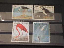 NIGER - P.A. 1985 UCCELLI 4 VALORI - NUOVI(++) - Niger (1960-...)