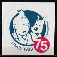 1 Autocollant Tintin Pour Son 75ème Anniversaire ( Dernier Exemplaire !!! ) - Autocollants