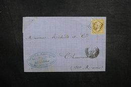FRANCE - Lettre De Chaumont Pour Chaumont En 1865, Affranchissement Napoléon GC 978 - L 37984 - Marcofilie (Brieven)