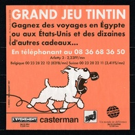 1 Publicité Tintin Hergé/Moulinsart De 1997 Pour Gagner Des Voyages En Egypte ( Dernier Exemplaire !!! ) - Reclame