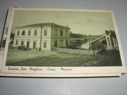 CARTOLINA STAZIONE FERROVIARIA MAGLIANO-CRAVA -MAROZZO - Stazioni Senza Treni
