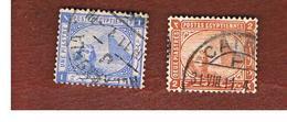EGITTO (EGYPT) - SG 54b.55b  - 1884  SPHINX & CHEOPS  PYRAMID           - USED ° - Egitto