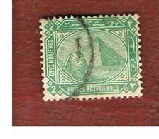EGITTO (EGYPT) - SG 59  - 1888  SPHINX & CHEOPS  PYRAMID   2M        - USED ° - Egitto