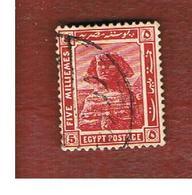 EGITTO (EGYPT) - SG 90  - 1914  SPHINX    5M        - USED ° - Egitto