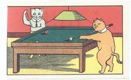 Verfstof L'ALSACIENNE KATTEN BILJART CHATS BILLIARD CATS - Old Paper
