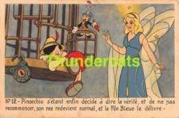 CPA WALT DISNEY PINOCCHIO   (PINHOLE - TEAR) ( DECHIRURE TROU DE PUNAISE ) - Disney