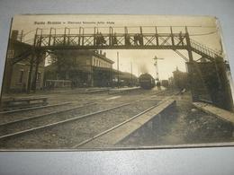 CARTOLINA BUSTO ARSIZIO-STAZIONE FERROVIARIA DELLO STATO - Stazioni Con Treni