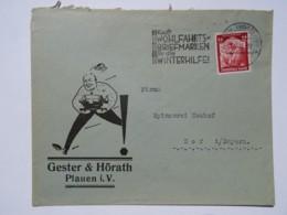 1935 DR Brief Freistempel Kauft Wohlfahrts-Briefmarken Für Die Winterhilfe - Briefe U. Dokumente