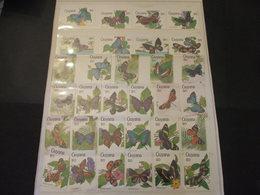 GUYANA - 1990 FARFALLE 50 VALORI - NUOVI(++) - Guiana (1966-...)