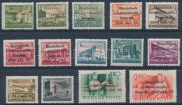 ** 1956 Soproni Kiadás 14 értékes Sorozat, Minden Bélyegen MB Vagy MF Garanciabélyegző (300.000) (2-3 Bélyegnél Apró Fog - Unclassified