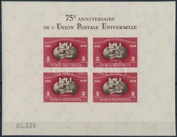 ** 1950 UPU Vágott Blokk Szép állapotban (140.000) - Timbres