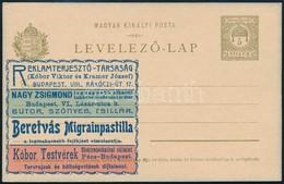 1902 Használatlan Díjjegyes Hírdetéses Levelezőlap 36R (120.000) - Timbres