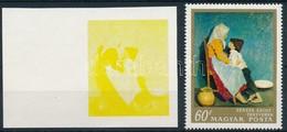 (*) 1967 Festmények III. 60f  Vágott ívszéli Bélyeg Magenta, Ciánkék, Fekete és Arany Színnyomat Nélkül. A Szakirodalomb - Unclassified