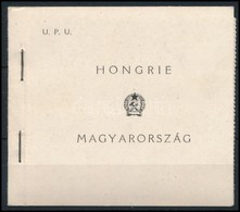 ** 1949 UPU Füzet, Két Szélén Fogazott (100.000) / Stamp Booklet, Panes Perforated On 3 Sides - Unclassified