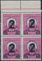 ** 1932 Kisegítő MPIK 518 ívszéli Négyestömb  (100.000) - Timbres
