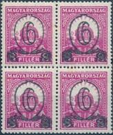** 1931 Kisegítő 502B Négyestömb (80.000) - Sin Clasificación