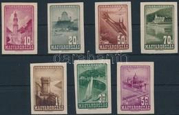 (*) 1947 Repülő 7 Különféle Fogazatlan Próbanyomat Vízjele Papíron / 7 Different Imperforate Proofs On Paper With Waterm - Timbres