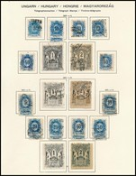 O Távírda Gyűjtemény Albumlapon, összesen 25 Db Bélyeg - Timbres