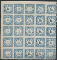 ** 1898 Hírlapbélyeg 25-ös Tömb (60.000+++) Ritka Nagy összefüggés - Timbres