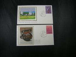 """BELG.1988 2283 & 2284 FDC's Zijde-soie (Maaseik) : """" EUROPA 1988 """" - 1981-90"""