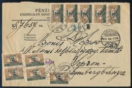1931 10 Db 2f Ikarusz Portóval Portózott Nagyalakú Küldemény. Érdekes Darab! - Timbres