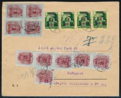 1945 Cenzúrás Távolsági Levél 4P Bérmenetesítéssel, 22P Bélyeges Portóval. A Bélyeges Portózás Ritka! - Stamps