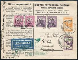 1931 Zeppelin Levél Friedrichshafen - Görlitzbe Zeppelin 1P és 2P Bélyeggel - Stamps