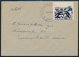 1945 VI. 13. Kárpátalja 100f (definitív Kiadás) Levélen, érkeztetve RRR! - Timbres