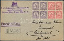 1917 Febr. 1. Ajánlott Levél 'K.u.K. FELDPOSTAMT 377' Feladási Bélyegző Würbenthal-ba érkeztetve Hadisegély (III.) 10f + - Timbres