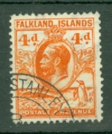 Falkland Is: 1929/37   KGV - Pictorial   SG120    4d  Orange    Used - Falklandinseln