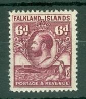 Falkland Is: 1929/37   KGV - Pictorial   SG121    6d   Purple   MH - Falkland Islands