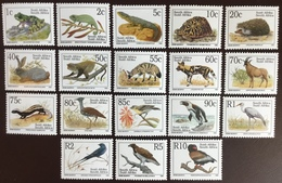 South Africa 1993 Endangered Fauna Birds Animals Reptiles Complete Set MNH - Sellos
