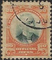 BRAZIL 1906 Official - Pres. Affonso Penna - 20r - Green & Orange FU - Dienstzegels