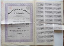 Lot Union D'Industrie, De Navigation Et De Banque (capital + Fondateur). - Actions & Titres