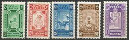 Ethiopia - 1936 Red Cross Set Of 5 MH *   Unissued - Ethiopia