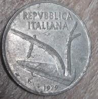 Italie 1979, 10 Lire - 1946-… : République