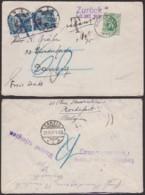 Belgique 1931 - Lettre COB 283 Sur Lettre De Rochefort Vers Danzig + Taxe + Retour (DD) DC3783 - Covers & Documents