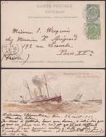 Belgique 1902 - EP Paquebot  - Oblitération Ostende Douvres - Superbe (DD) DC3791 - Entiers Postaux