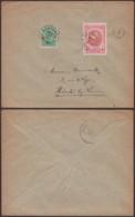 """Belgique 1920- COB 133 + 152 Sur Lettre - Oblitération Relais """" Leefdael """" (DD) DC 3809 - 1918 Croix-Rouge"""