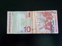 Malaysia 10 Ringgit 1997-2001 King Tuanku Abdul Rahman Sig Zeti Aziz - Malaysia