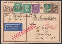 Svájc 1929 Zeppelin Hollandiai útja Levelezőlap Svájc-Deutsches Reich Vegyes Bérmentesítéssel / Zeppelin Flight To Holla - Unclassified