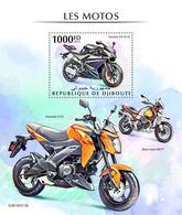 DJIBOUTI 2019 - Motorcycles: Yamaha, Kawasaki, Guzzi S/S. Official Issue - Motorfietsen