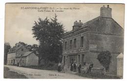 CPA Rare Saint Antoine La Foret La Route Du Havre Cafe Tabac Anime Edition E . Cavelier Etat Voir Scan - Autres Communes