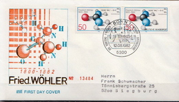 Germany Used FDC From 1982 - Chemistry