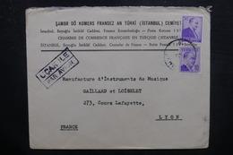 TURQUIE - Enveloppe De La Chambre De Commerce Française En Turquie Pour Lyon - L 38024 - Lettres & Documents