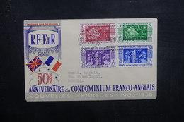 NOUVELLES HÉBRIDES - Enveloppe FDC 1956 - L 38028 - FDC